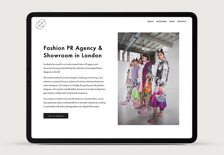 Hundred Showroom 1 | Projects by Andre Armacollo Freelance Web Designer