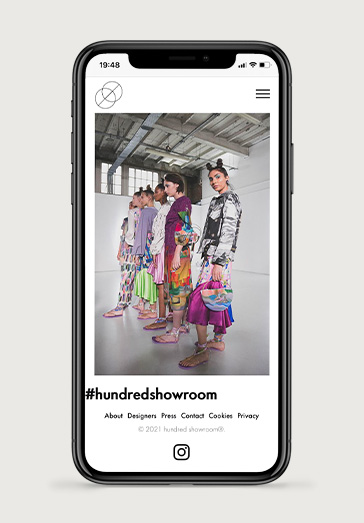 Hundred Showroom 2 | Projects by Andre Armacollo Freelance Web Designer