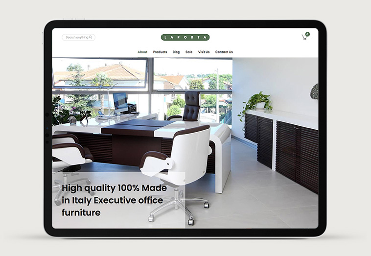 Laporta Furniture 1 | Projects by Andre Armacollo Freelance Web Designer