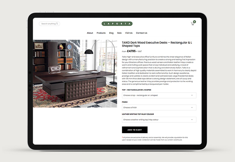 Laporta Furniture 4 | Projects by Andre Armacollo Freelance Web Designer